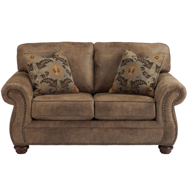 Wholesale Signature Design by Ashley Larkinhurst Loveseat in Earth Faux Leather