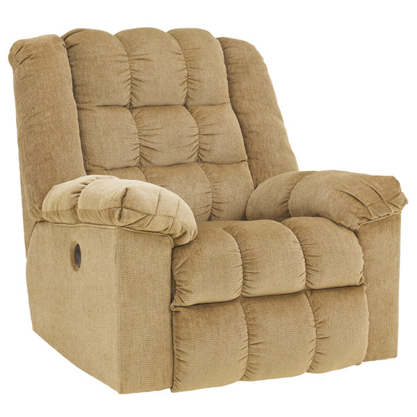 Wholesale Signature Design by Ashley Ludden Power Rocker Recliner in Sand Twill