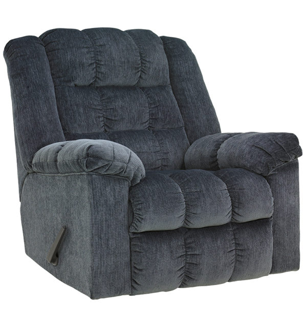 Wholesale Signature Design by Ashley Ludden Rocker Recliner in Blue Twill