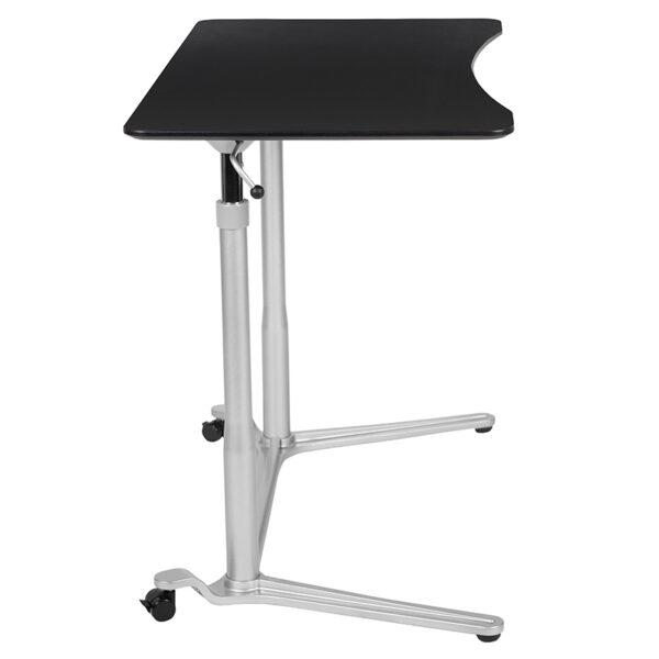 "Stand-Up Black Computer Ergonomic Desk with 37.375""W Top (Adjustable Range 29"" - 40.75"")"