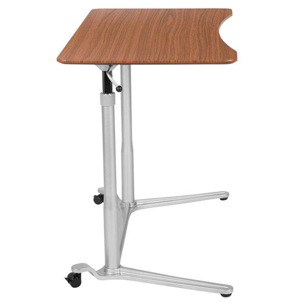 "Stand-Up Cherry Computer Ergonomic Desk with 37.375""W Top (Adjustable Range 29"" - 40.75"")"