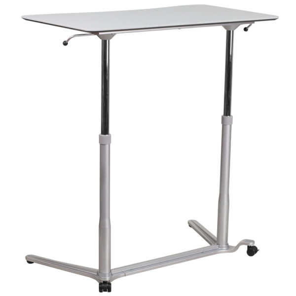 Contemporary Style Sit-Stand Light Gray Desk