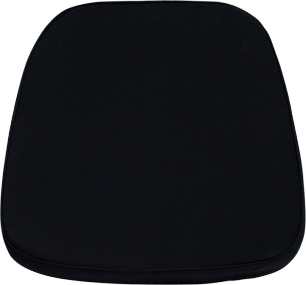 Wholesale Soft Black Fabric Chiavari Chair Cushion