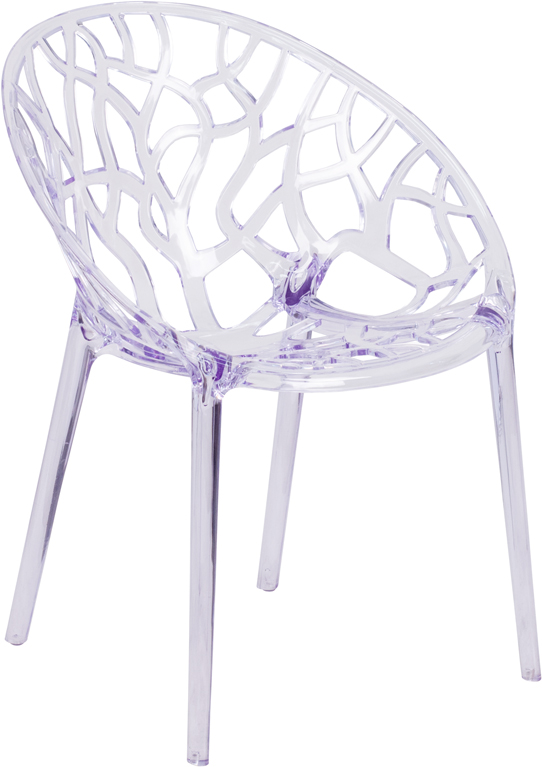 Wholesale Specter Series Transparent Stacking Side Chair