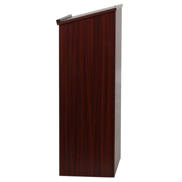 Lowest Price Stand-Up Wood Lectern in Mahogany