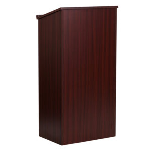 Wholesale Stand-Up Wood Lectern in Mahogany