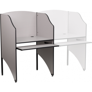 Wholesale Starter Study Carrel in Nebula Grey Finish