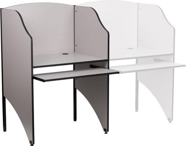 Wholesale Starter Study Carrel in Nebula Grey Finish