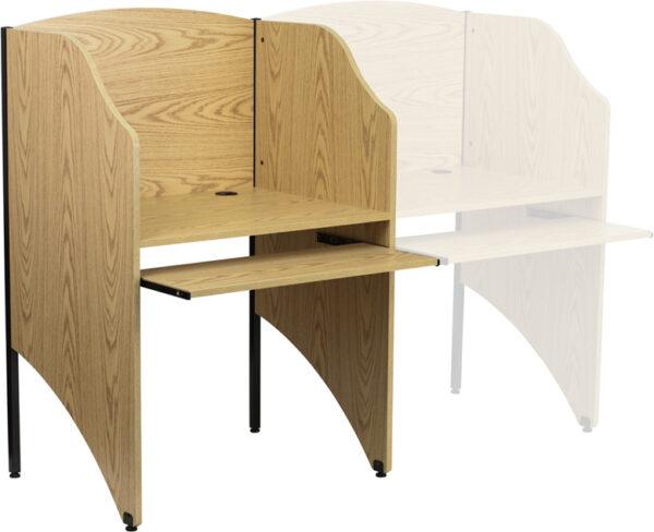 Wholesale Starter Study Carrel in Oak Finish
