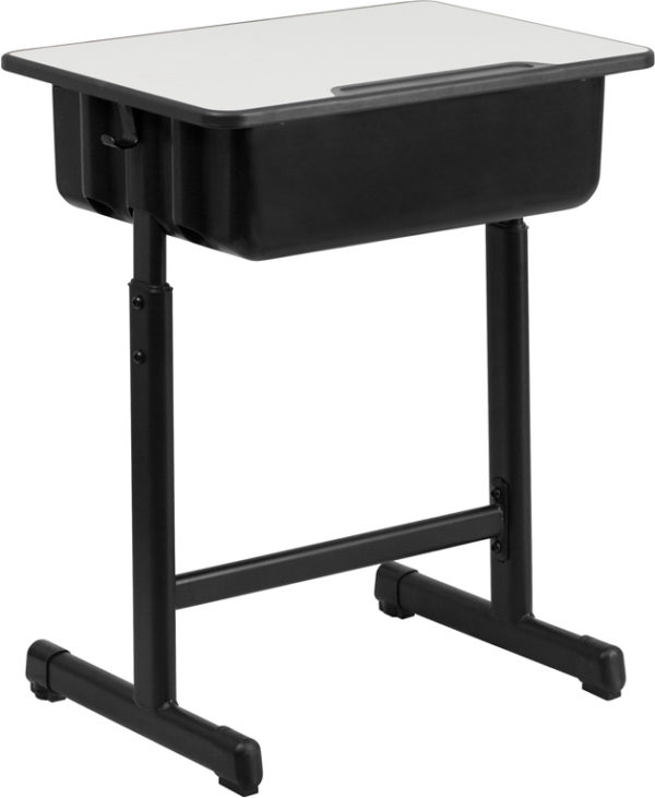 Popular Student Desk with Open Book Box Grey Open Front Desk