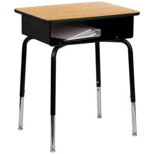 Wholesale Student Desk with Open Front Metal Book Box