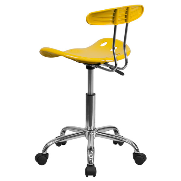 Adjustable height swivel task chair for home office Yellow Tractor Task Chair