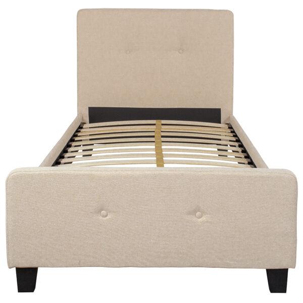 Platform Bed Twin Platform Bed-Beige
