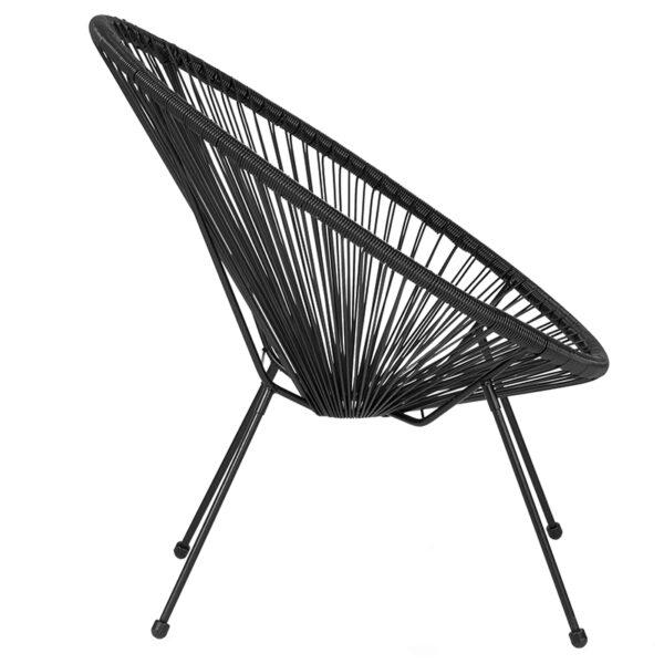 Lowest Price Valencia Oval Comfort Series Take Ten Black Rattan Lounge Chair