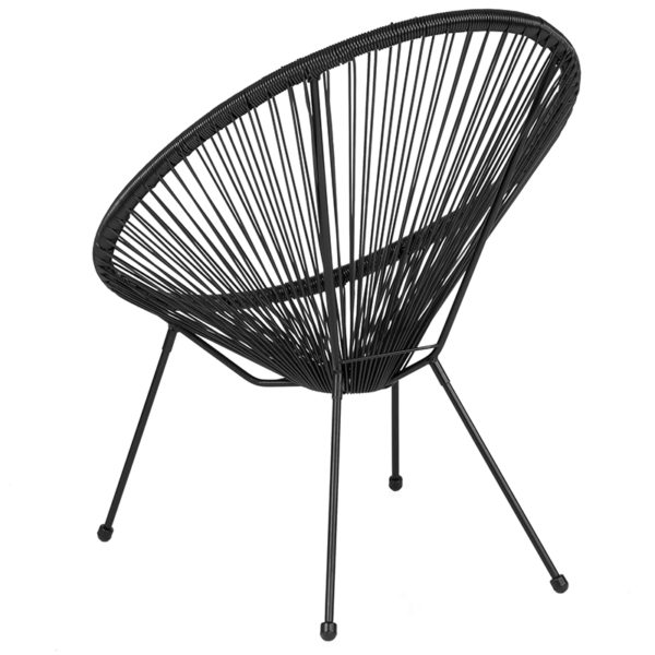 Bungee Lounge Chair Black Bungee Oval Lounge Chair