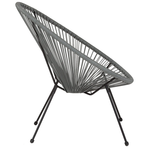 Lowest Price Valencia Oval Comfort Series Take Ten Grey Rattan Lounge Chair