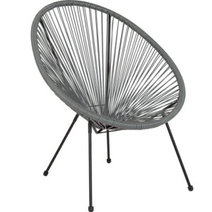 Wholesale Valencia Oval Comfort Series Take Ten Grey Rattan Lounge Chair