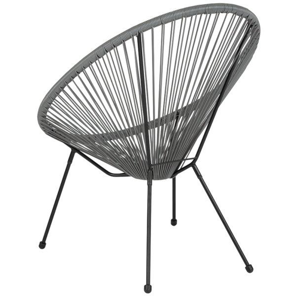 Bungee Lounge Chair Grey Bungee Oval Lounge Chair