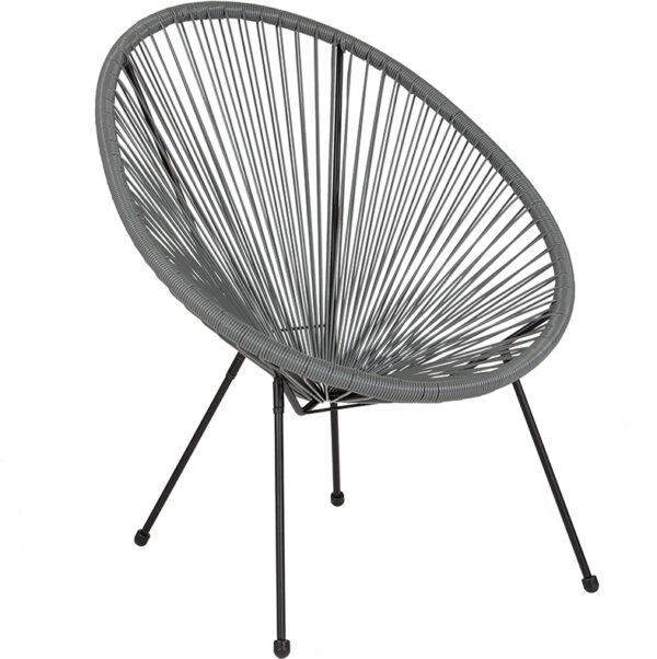 Wholesale Valencia Oval Comfort Series Take Ten Grey Rattan Lounge Chair