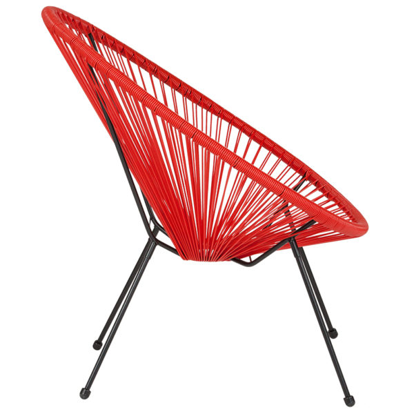 Lowest Price Valencia Oval Comfort Series Take Ten Red Rattan Lounge Chair