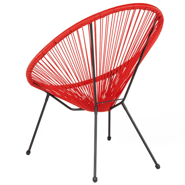 Bungee Lounge Chair Red Bungee Oval Lounge Chair