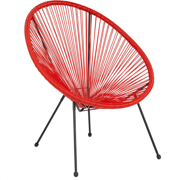 Wholesale Valencia Oval Comfort Series Take Ten Red Rattan Lounge Chair