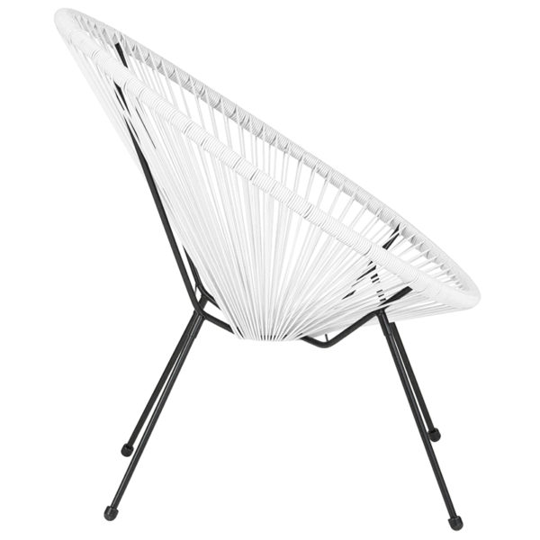 Lowest Price Valencia Oval Comfort Series Take Ten White Rattan Lounge Chair