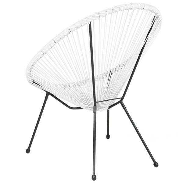 Bungee Lounge Chair White Bungee Oval Lounge Chair