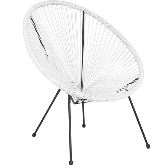 Wholesale Valencia Oval Comfort Series Take Ten White Rattan Lounge Chair