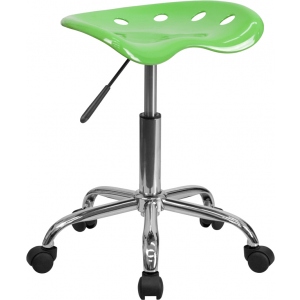 Wholesale Vibrant Apple Green Tractor Seat and Chrome Stool