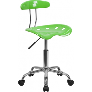 Wholesale Vibrant Apple Green and Chrome Swivel Task Office Chair with Tractor Seat