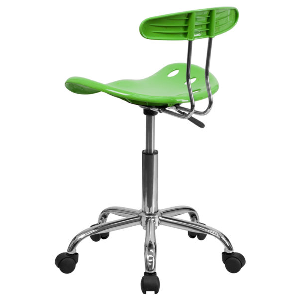 Contemporary Task Office Chair Apple Green Tractor Task Chair