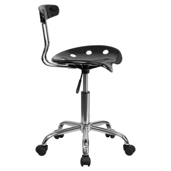 Contemporary Task Office Chair Black Tractor Task Chair