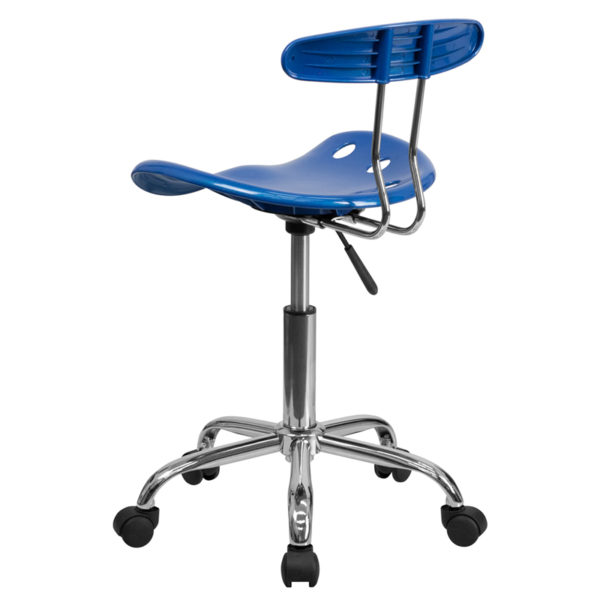 Contemporary Task Office Chair Bright Blue Tractor Task Chair