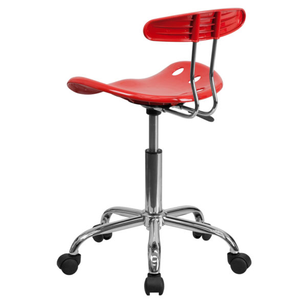 Contemporary Task Office Chair Cherry Tractor Task Chair