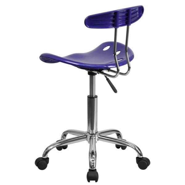 Contemporary Task Office Chair Deep Blue Tractor Task Chair