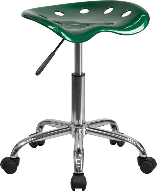 Wholesale Vibrant Green Tractor Seat and Chrome Stool