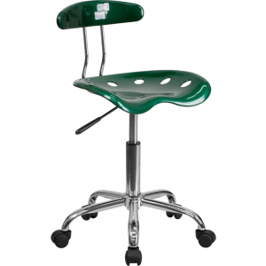 Wholesale Vibrant Green and Chrome Swivel Task Office Chair with Tractor Seat