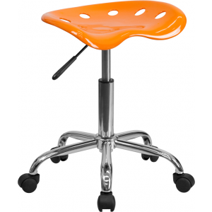 Wholesale Vibrant Orange Tractor Seat and Chrome Stool