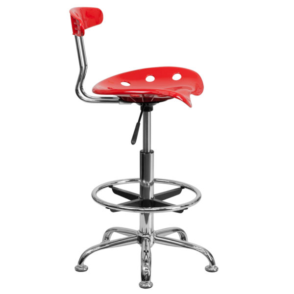 Contemporary Draft Stool Red Tractor Stool