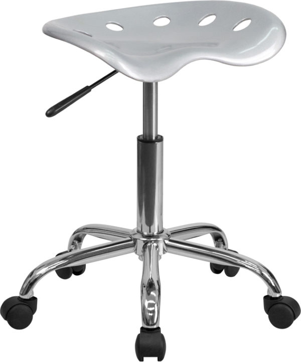 Wholesale Vibrant Silver Tractor Seat and Chrome Stool