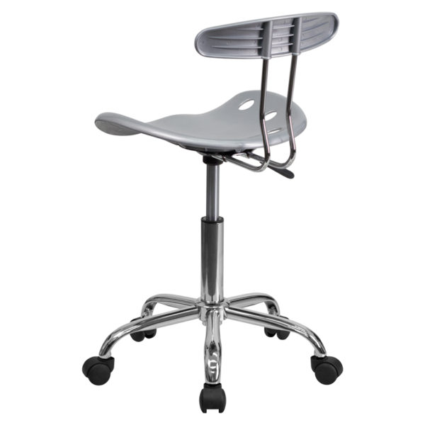 Contemporary Task Office Chair Silver Tractor Task Chair