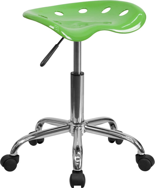 Wholesale Vibrant Spicy Lime Tractor Seat and Chrome Stool