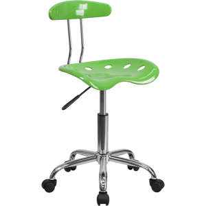 Wholesale Vibrant Spicy Lime and Chrome Swivel Task Office Chair with Tractor Seat