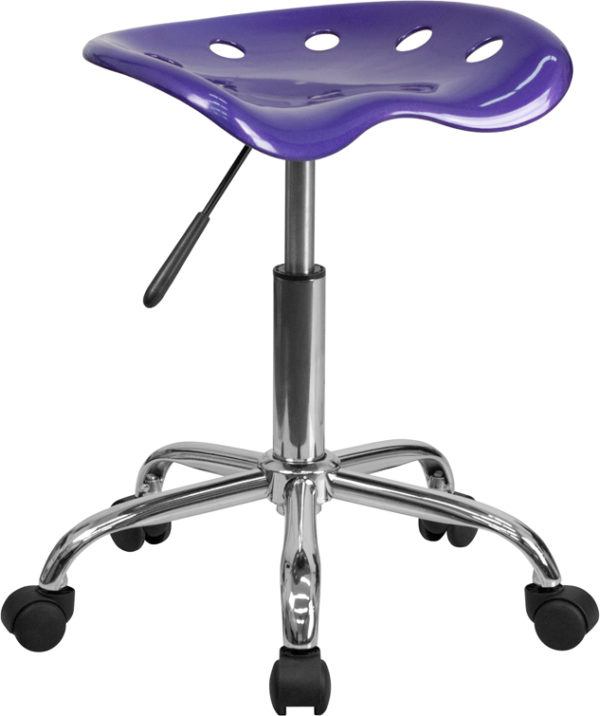 Wholesale Vibrant Violet Tractor Seat and Chrome Stool
