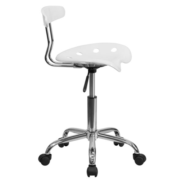 Contemporary Task Office Chair White Tractor Task Chair