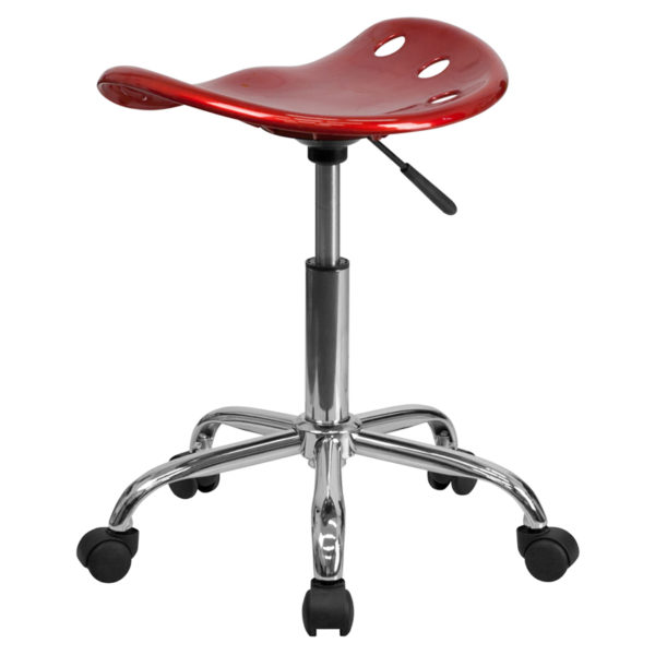 Tractor Style Stool Wine Red Tractor Stool