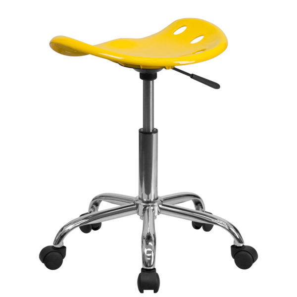 Tractor Style Stool Yellow Tractor Stool
