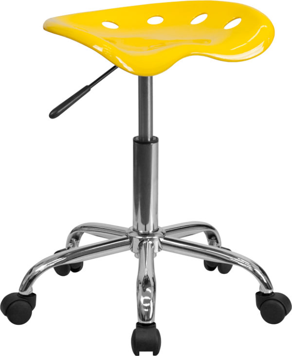 Wholesale Vibrant Yellow Tractor Seat and Chrome Stool