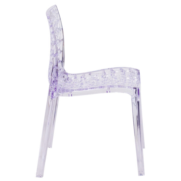 Lowest Price Vision Series Transparent Stacking Side Chair